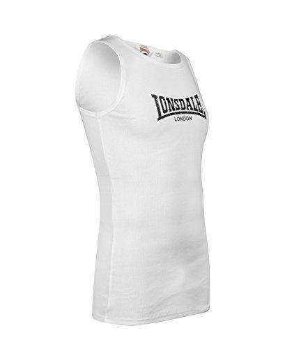 ... Lonsdale Herren Langarmshirt Trägerhemd Muskelshirt Rib Singlet Galaxy  Slimfit White ...