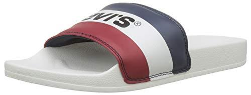 LEVIS FOOTWEAR AND ACCESSORIES June Sportswear, Infradito Uomo, Bianco (B White 50), 44 EU