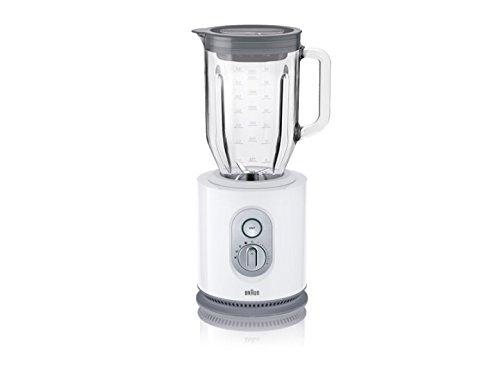 Braun JB5050 Batidora de vaso, control de velocidad electrónico, 900 W, jarra de cristal 2 L, color blanco
