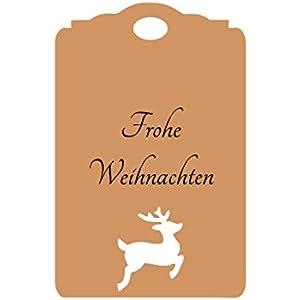 25 Geschenkanhänger Etiketten Hirsch Weihnachten