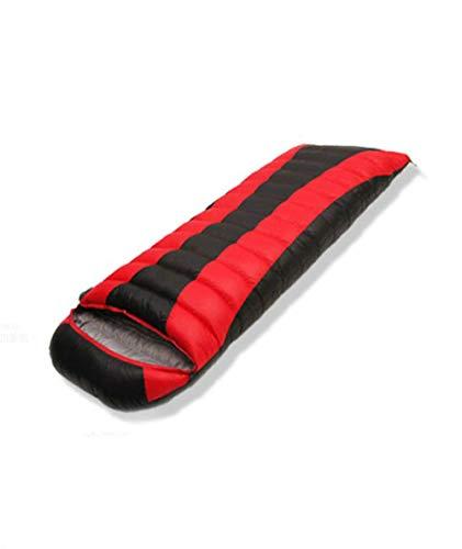 TAHRH Schlafsack kleines packmaß,Outdoor-Wanderschlafsack, kann gespleißt Werden, alle Jahreszeiten können universal @ red_400g_Goose_down Sein -