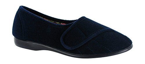 Immersione Gbs suola Gomma Audrey Blu Fodera Tessile Velcro Per In Navy In Pantofole Blu Donna Tessile AqCzqP