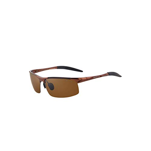 Daawqee Prämie Sonnenbrillen,Brillen, Men Polarized Sunglasses Aviation Aluminum Sun Glasses For Fishing Driving Rectangle Rimless Shades S8277