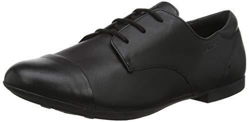 Geox JR Plie' F, Zapatos de Cordones Oxford para Niñas, Negro Black C9999, 28 EU
