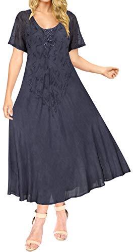 LA LEELA Traje de baño de la Playa del Traje de baño Bikini de la Playa de Las Mujeres Cubrir n_Blue Vestimenta Casual