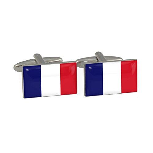Frankreich Flagge Manschettenknöpfe