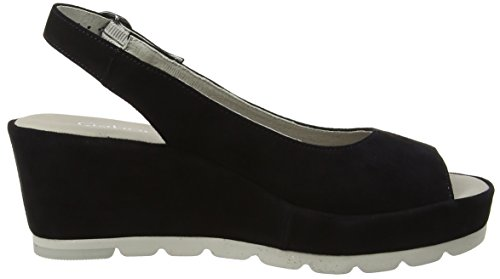 Gabor Shoes Fashion, Sandali con Zeppa Donna Blu (pazifik 16)
