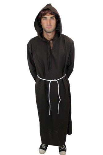 nkostüm Mönch Priester Mönchskutte Klosterbruder L022, XL (Mönch Kostüme)