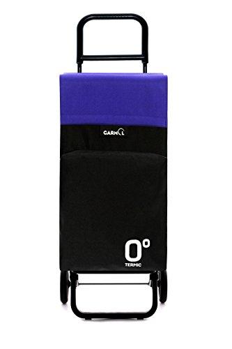 GARMOL 10010tg2 LC C679 Poussette de Marché 2 Roues, Tissu, Noir et Violet, 39 x 30 x 102 cm
