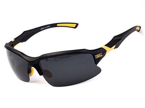 Meetlocks occhiali da sole di sport, lenti polarizzate, telaio pc di alta qualità con rimovibile telaio miopi occhi, per lo sci golf equitazione guida pesca escursionismo e attività all'aria aperta