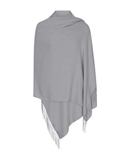 Silber Hergestellt in Italien (37 Schöne Farben Erhältlich) Pashmina Schal Stola Umschlagtücher Tuch für Damen - Super Weich – Exklusiv von Pashminas & Wraps aus  London