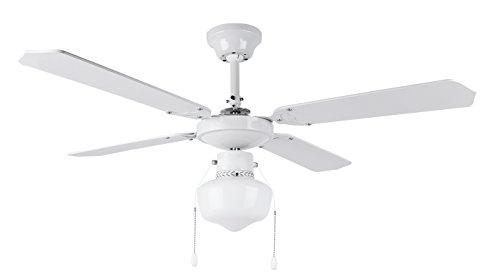 Orbegozo CL 04105 B Ventilador de techo con luz, 50 W de potencia, diámetro de 105 cm, 4 palas reversibles y 3 velocidades