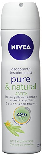 Nivea Pure&Natural Deodorante Spray per Donna - 150 ml
