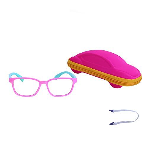 JoXiGo Kinder Brille Ohne Stärke Blaulichtfilter UV Blockieren TR90 Rahmen mit Einstellbare...