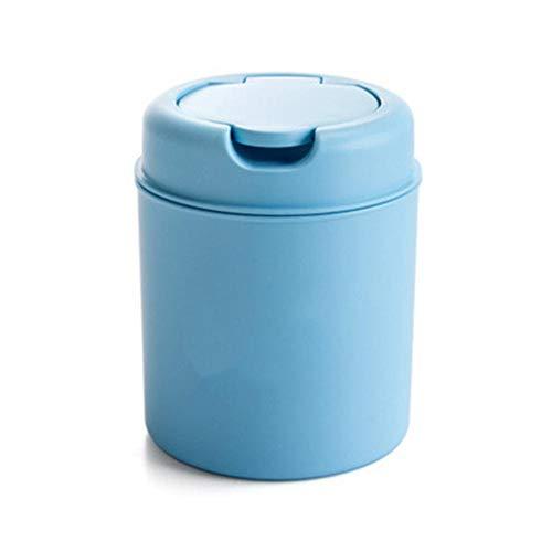 yizhi2325 Mini Round Step Mülleimer, Tägliche Plastik-Mülleimer, geeignet für den Einsatz in der Spüle, im Wohnzimmer oder im Raum usw.