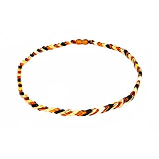 Natural Baltic Amber Necklace for Adults - Hand made From Polished /Certified Baltic Amber Beads(Multi)