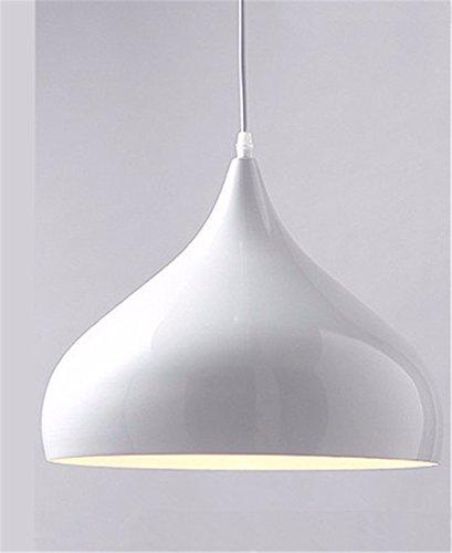 WoOnew Einem Kopf aus Aluminium Kronleuchter europäischen Led Wohnzimmer minimalistischen Retro Land Schlafzimmer Esszimmer, B Stil weiß (Land-dekor-shop)