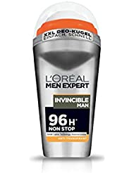 L'Oréal Men Expert Deodorant Invincible Man, Deo Roll-On Männer für 96h Non Stop, 6er Pack (6 x 50 ml)