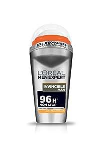L'Oréal Men Expert Deodorant Invincible Man - Deo Roll-On Männer für 96h Non Stop / Ultra-Langer Deo Schutz (dermatologisch getestet - alkoholfrei) 6 x 50 ml