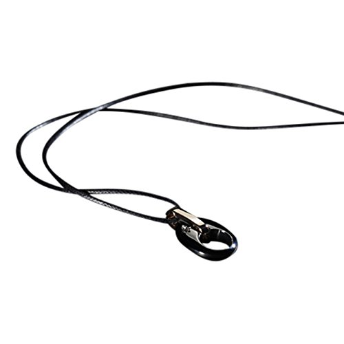 Collana da uomo in acciaio inox con comete gioielli spinello, regolabile ugl277