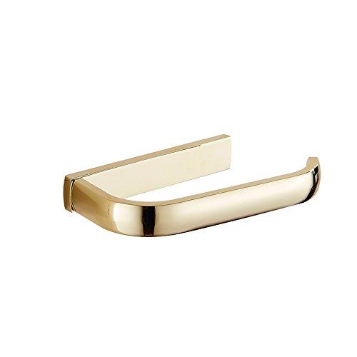 CNBBGJ Europäische Gewebe Halter vergoldete Kupfer Bad Metall Anhänger gold Serviette Ring Halter rustikale Toilettenpapier Halter WC-Papierhalter (Beige Serviettenringe)