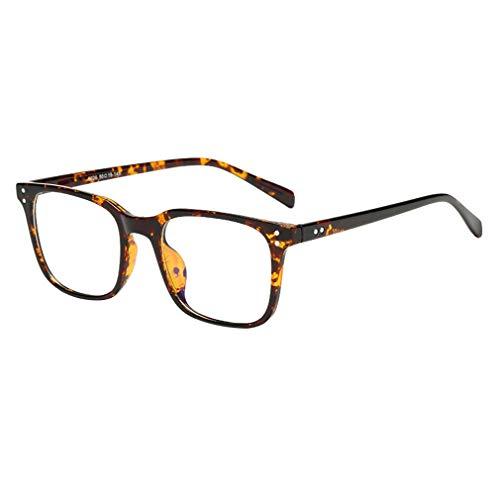 Lefu Unisex Retro Optischer Rahmen Klassische Mode Rahmen Klare Linse Anti-Blaue Brille Dauerhaft