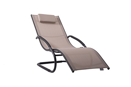 Vivere Europe WAVELNG1-MA Wave Lounger, Macchiato, 168x61x91 cm Best Price and Cheapest