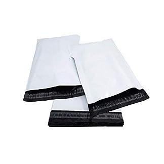 100 bolsas de plástico para envíos postales, cierre de polietileno de calidad, autoadhesivas, color blanco
