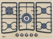 Whirlpool Europe PH AKM394AE Piano Cottura Country, Metallo, Avena, 50x68x5.1 (50 Metallo)