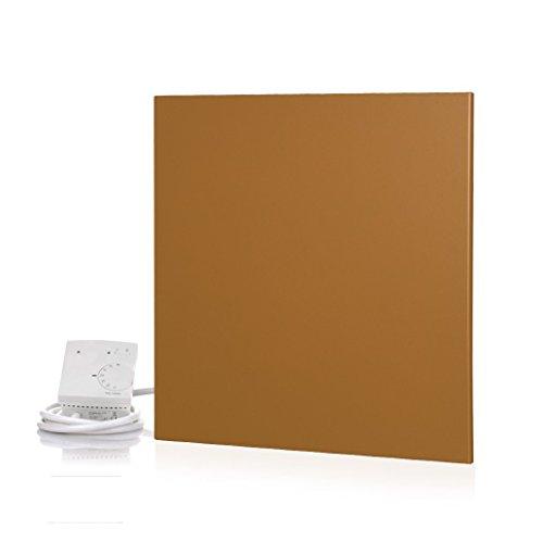 Metallic Infrarotheizung mit Thermostat für Wand- und Deckenmontage - Gold, 45 x 0,8 x 45 cm, 400 Watt