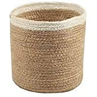 NTS Jute Planter Pots/Storage Basket with Handle, Multi-Purpose use for Bathroom Living Room (8X10 INCH, NTS1)