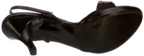 Unze L18450W, Sandales femme Noir (L18450W)