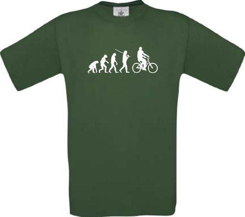 ShirtInStyle T-Shirt Evolution Sport Fahrrad Biken Fun Shirt, Farbe grün, Größe L (Grey-t-shirt Ash Evolution)