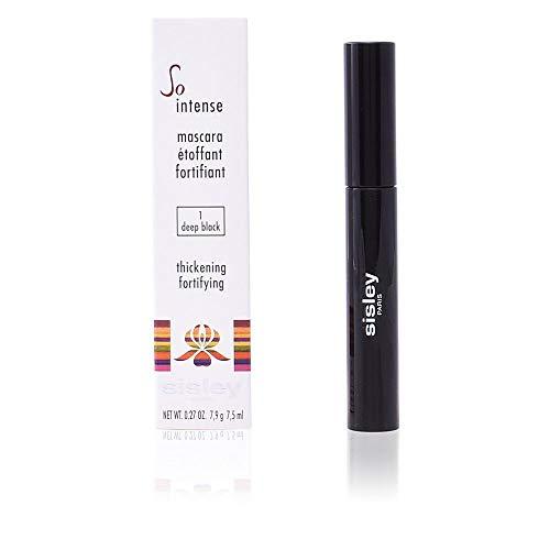 Sisley Mascara So Intense 01 deep black unisex, volumengebender und kräftigender Mascara 7,5 ml, 1er Pack (1 x 0.031 kg) - Smoky Eyes Augen-make-up