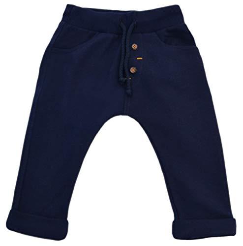 Karen Baby Hose Jungen Mädchen Unisex Bekleidung Baggy Jogginghose Sweathose Baumwolle Braun Senf Grau Blau Marineblau Tarnanzug (Marineblau - dunkel Bindfaden, 68) -