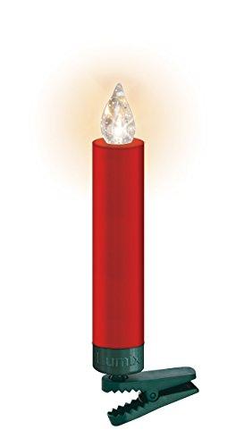 LUMIX Premium Mini, kabellose LED-Mini-Christbaumkerzen, Erweiterungs-Set mit 6 Kerzen, Flackermodus, Rot, Art. 75456 - 5
