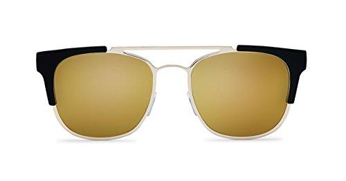 Quay Eyewear Unisex Sonnenbrille High and Dry, Gold (Gld/Gld Mirror), One size (Herstellergröße: Einheitsgröße)