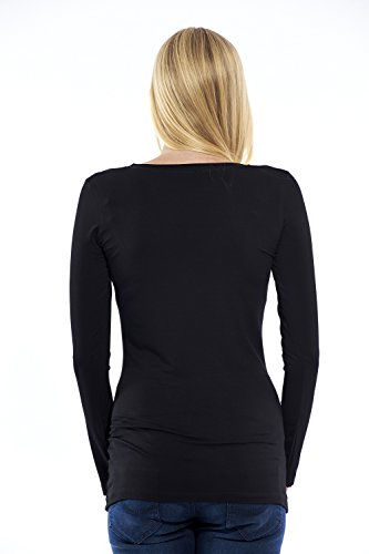 Motherway - T-Shirt à manches longues - À logo - Col Rond - Femme Bleu
