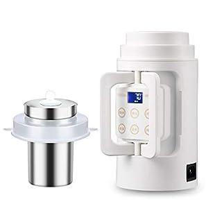 AME Elektrischer Wasserkocher, Reise-Wasserkocher, Kleiner Wasserkocher, Tragbare Mini-Reise-Kochfläche Mit Brei, Elektrischer Becher,B,11.3 * 22.5Cm