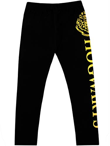 Harry Potter Leggings Niñas Hogwarts Negro 11-12