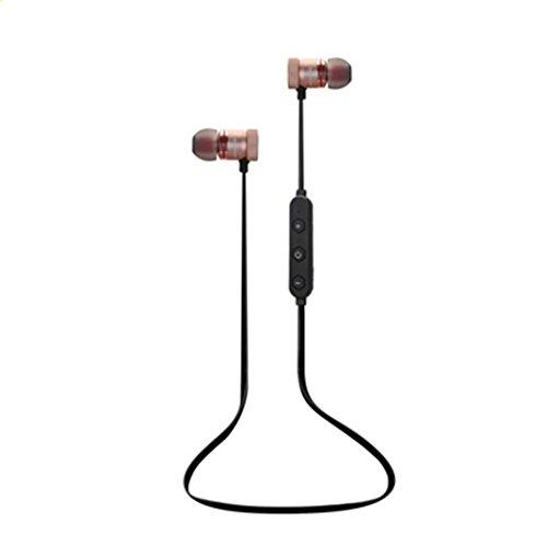 Sport bluetooth headset 4.1-ear metal wireless stereo gift music phone auricolare