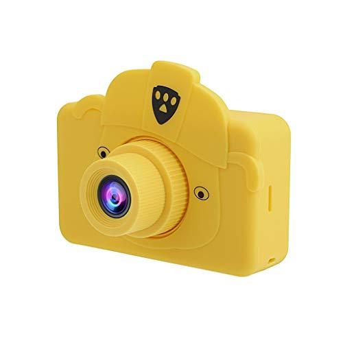 Webla - Cámara Digital Para Niños, 2.0 Lcd Mini Cámara Hd 1080P Cámara Deportiva Para Niños, abdominales (46X78X42 (MM)) (Amarillo) (C)