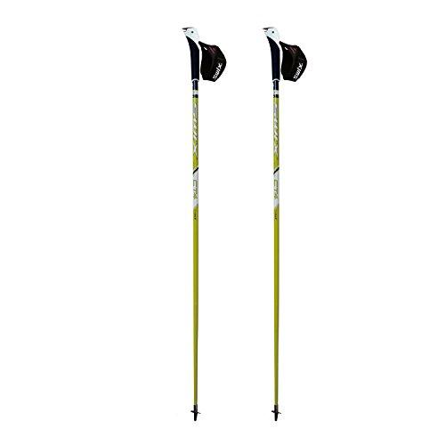 Swix CT4 Nordic Walking Stock Lime Composite Premium mit JustGoSport Spitze 1 Paar