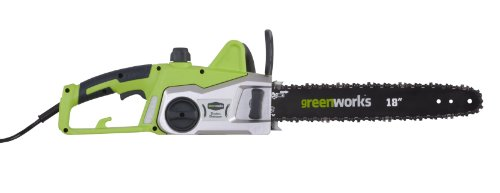 Greenworks 3820037 Motosierra Eléctrica, 2000 W, 230 V, Verde