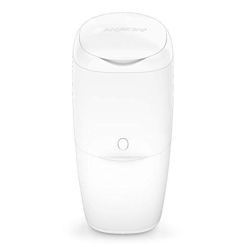 Angelcare - Essential - Poubelle à Couches + 1 Recharge - Anti Odeurs Et Anti-Germe Garantie - Haute Capacité - Design Ergonomique - Usage Simple - Blanc