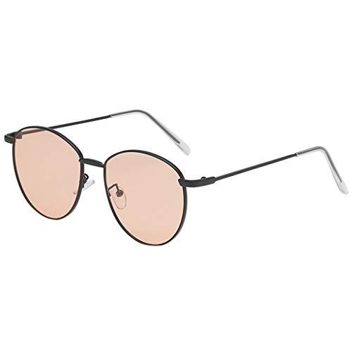 CixNy Damen Herren Mode Polarisierte Sonnenbrille, Unisex Oval Rahmen Hochwertige Weinlese Brille Oversize 100% UV-Schutz Objektiv Spiegel