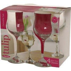 Price comparison product image Rayware Tulip White Wine Glasses x 4 20cl (571149)
