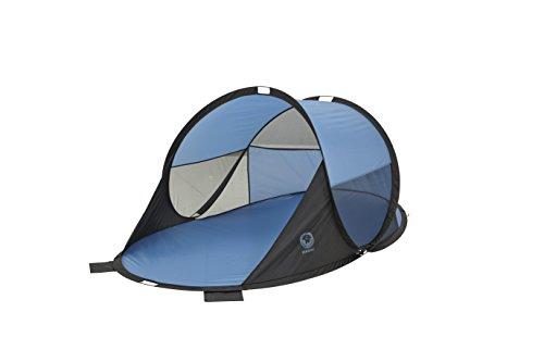 Grand Canyon Waiikiki - Pop Up Strandmuschel / Strandzelt, mit UV40-Schutz, als Sonnenschutz, Windschutz, für Strand, Garten, Camping, schneller Aufbau, blau, 302201