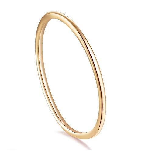 Stapel Ringe,Damen,925 Sterling Silber (Rose Gold, 52 (16.6)) (Sie Wird Nicht Vergehen)