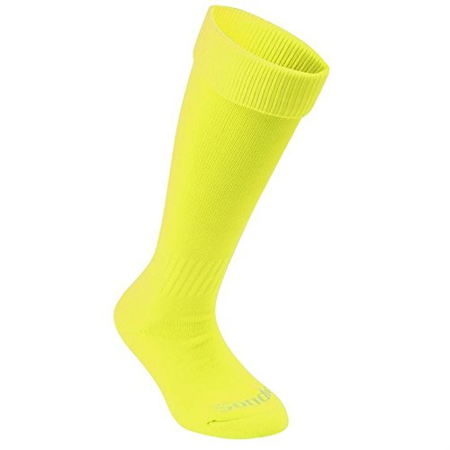 Sondico Kids Football Socks Breathable Sports Training Accessories Fluo Yellow Childs C8-C13